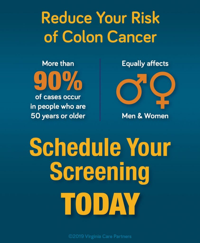 Schedule Your Colon Screening Today Graphic